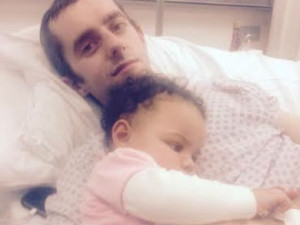 Hospitalised for five weeks: Father-of-four, Stuart Currey.