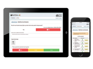 TechView enables garages to take traditional paper information, like health check sheets or servicing schedules, and convert them into digital data to share on any internet-enabled device.