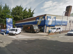 Kwik Fit, Mansfield. Image: Google Street View.