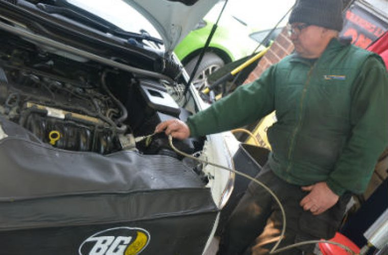 Video: borescope footage captures carbon removal process