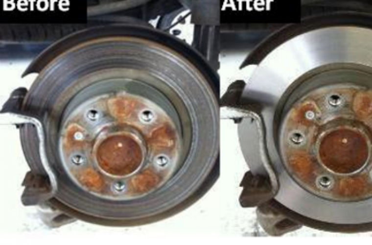 Drivers report advantages of brake disc skimming