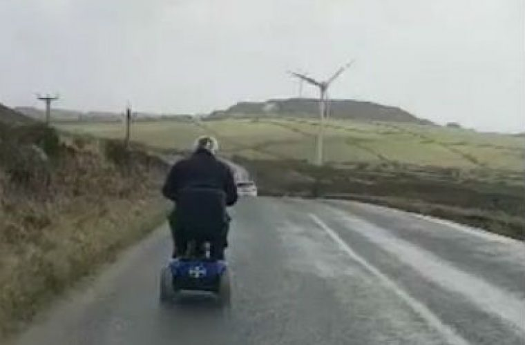 Video: tech modifies mobility scooter to reach 60mph