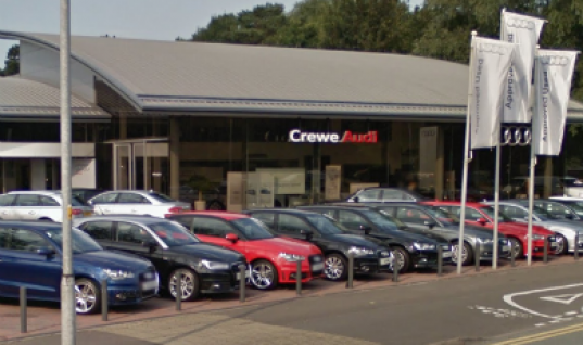 Thief steals £35K worth of alloy wheels from Audi dealership