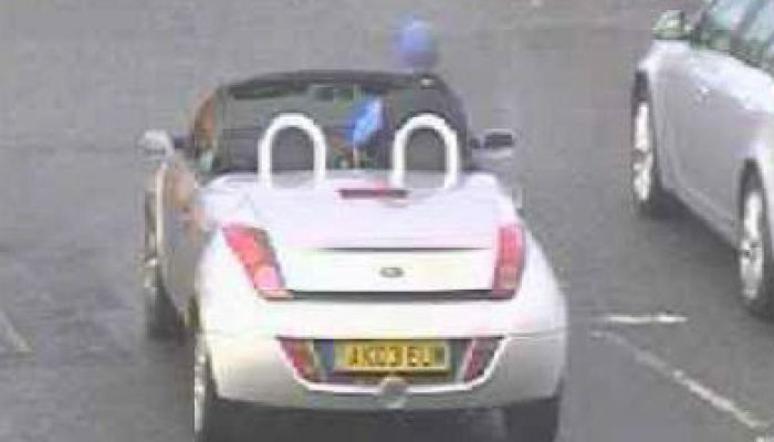 Speed camera catches 6ft 7 man driving Ford Ka with his knees