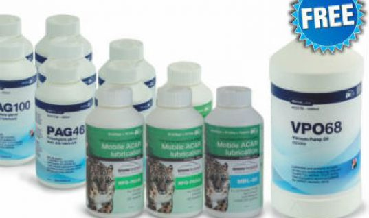 Get free vacuum pump oil at Prosol with Airco air con lubricant pack