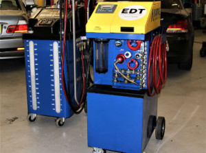EDT engine clean (right) and auto transmission machines.