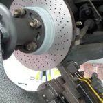 Porsche Disc being Skimmed
