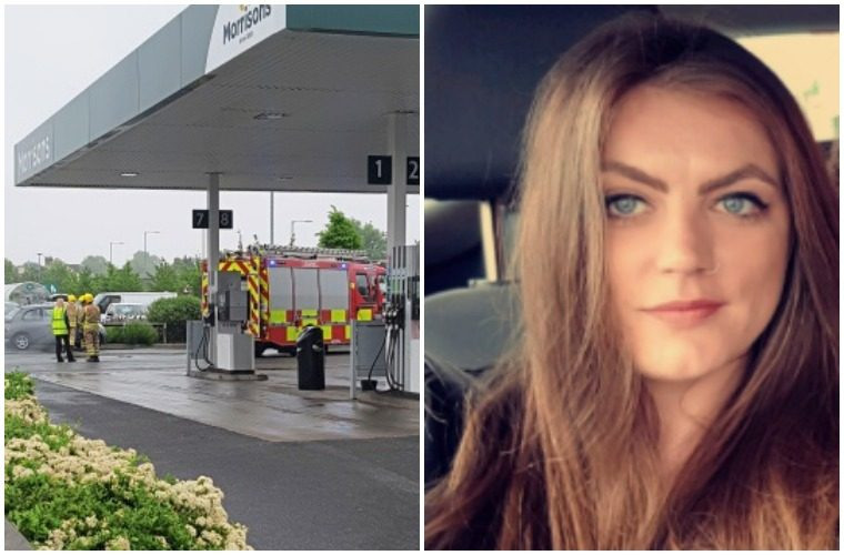 Young mum's LPG tank explodes on forecourt