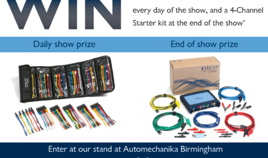 Win a four-channel PicoScope starter kit at Automechanika Birmingham