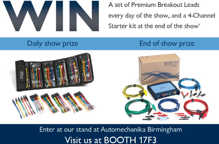 Win a four-channel PicoScope starter kit at Automechanika Birmingham