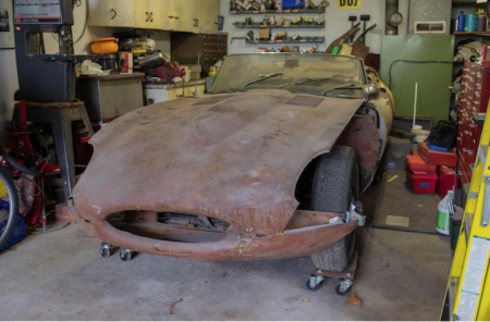 Remains of rusty E-Type Jag sells for £38K at auction