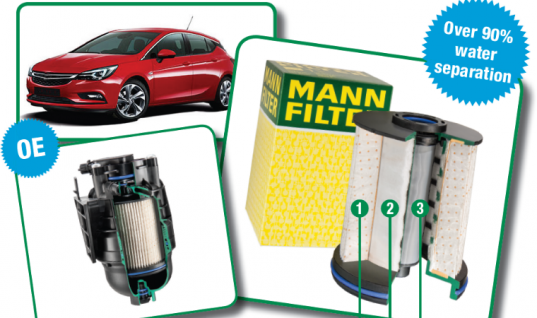 MANN-FILTER Astra diesel fuel filter offers consistently high diesel/water separation
