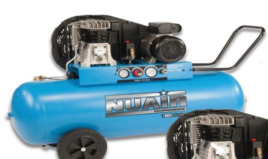 Nuair belt driven lubricated 150L air compressor
