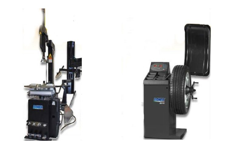 Boxer tyre changer and wheel balancer