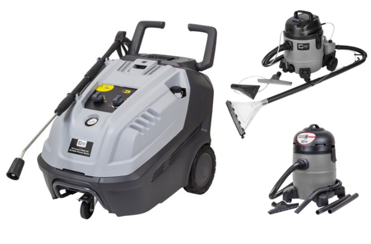 SIP valet pack with pressure washer, valeting machine and vacuum cleaner