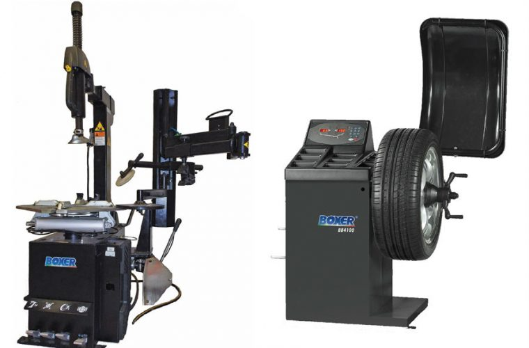 Hofmann Boxer back tyre changer and digital wheel balancer