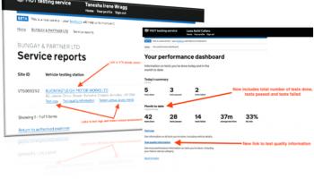 DVSA details latest MOT testing service updates