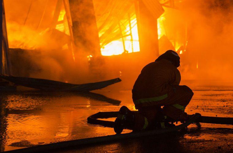 "Five fire crews called to scene of ""shocking"" garage inferno"