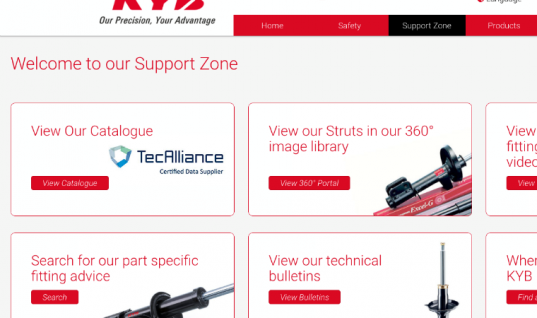 KYB Europe has launched a new multi-lingual website