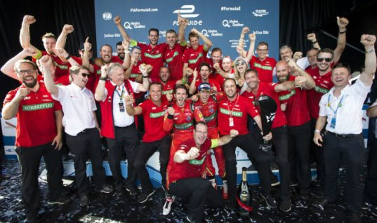 Team ABT Schaeffler Audi Sport celebrates Formula E world title success
