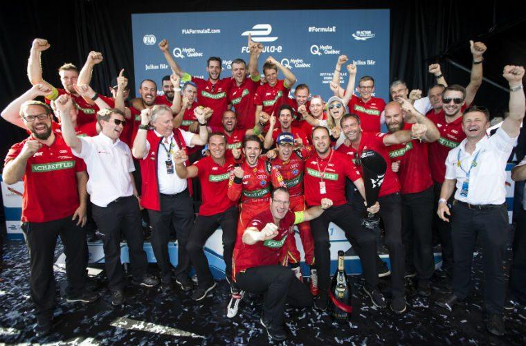 Team ABT Schaeffler Audi Sport celebrates Formula E world title success