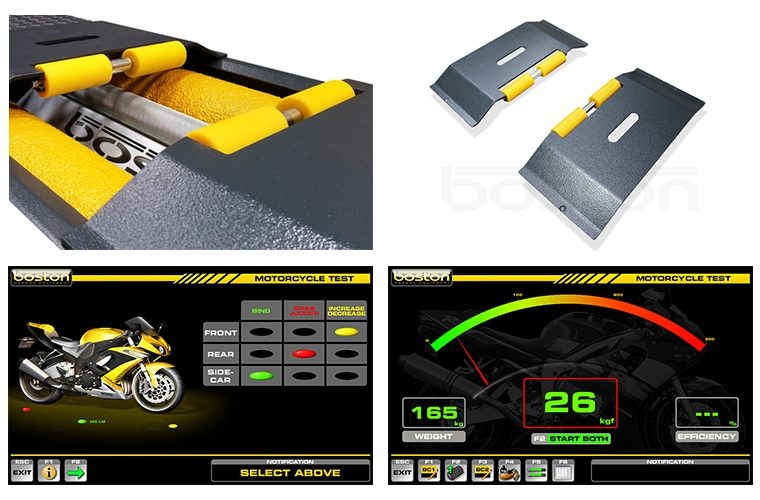 Get 50 per cent off Boston motorcycle testing adapter plates and software