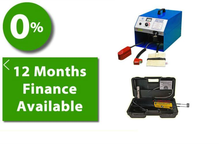 Zero per cent finance on all Inductor induction heating products over £450
