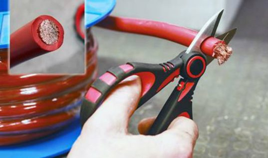 Cable cutter and crimper from Laser Tools