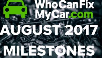 Infographic: WhoCanFixMyCar celebrates August workshop stats