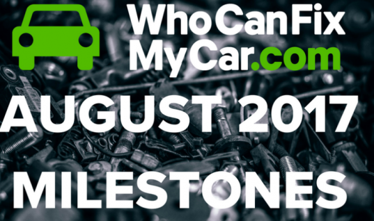 Infographic: WhoCanFixMyCar celebrates August workshop stats