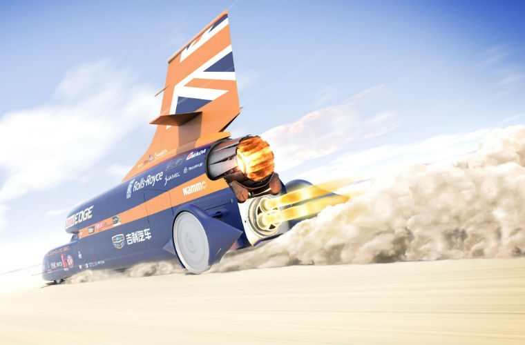 Watch: Jet-powered Bloodhound breaks 210mph in first public run