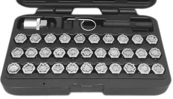 Mercedes 35 piece wheel locking key set from Angry Jester
