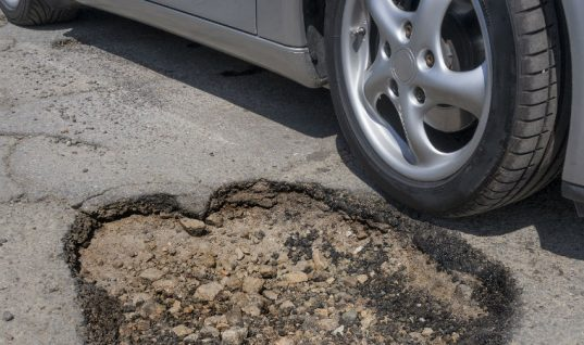 Pothole-related breakdowns jump in first three months of 2020
