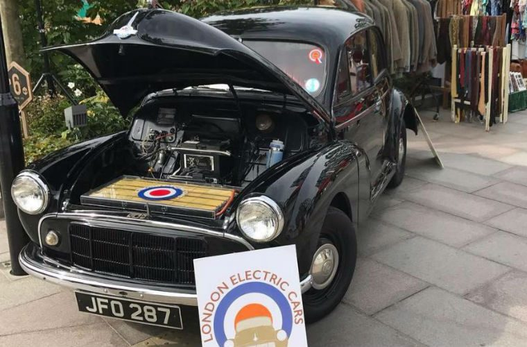Garage owner converts his 1950's Morris Minor to electric