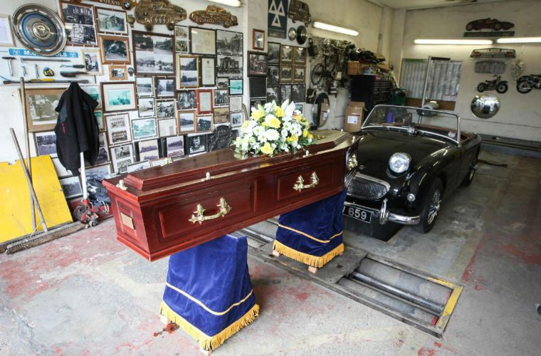 Respected mechanic honoured with a procession of classic cars
