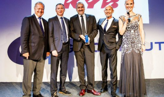 "KYB named logistics ""supplier of the year"" by GROUPAUTO"