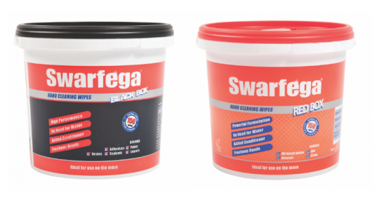 Extra 33 per cent free inside Swarfega Red Box and Black Box wipes