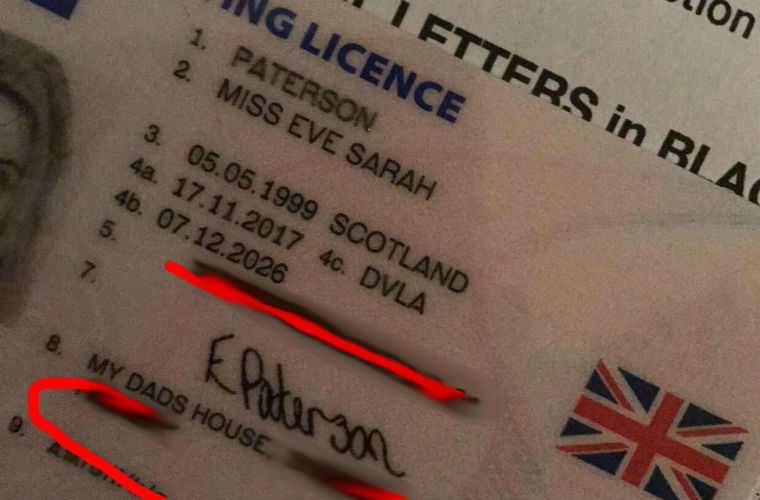 DVLA fails to notice hilarious driving licence error
