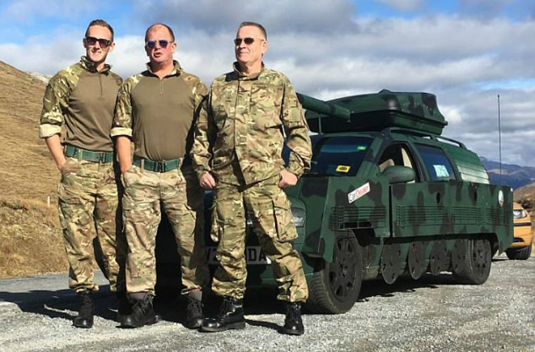 Technicians turn Volvo into military tank for epic charity road trip