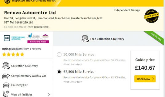 AA Garage Guide's new quotation service proves popular