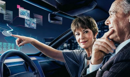 World's largest automotive head-up display developed by DENSO