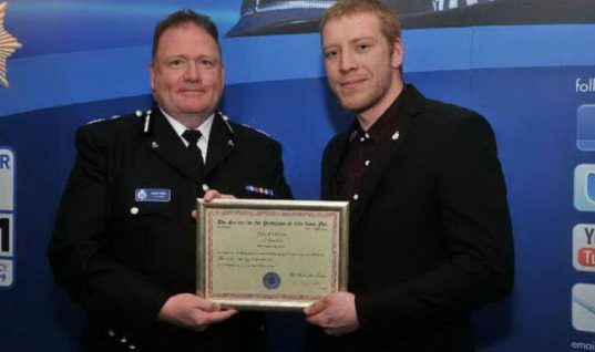 Mechanic praised for saving woman's life