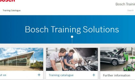 Bosch Training Solutions pilot scheme launched in UK