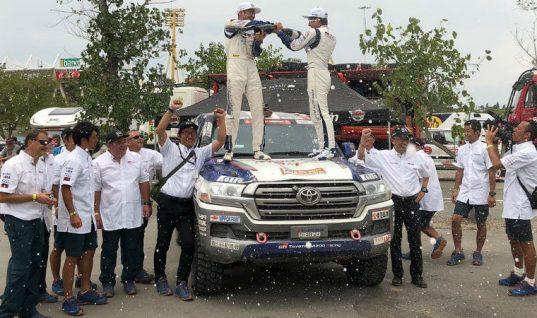 DENSO sponsored Team Land Cruiser win 2018 Dakar Rally