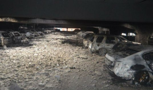 Newly released images show utter destruction following Liverpool car park fire