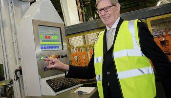 Sir Bill Cash cuts ribbon on £1M Klarius investment