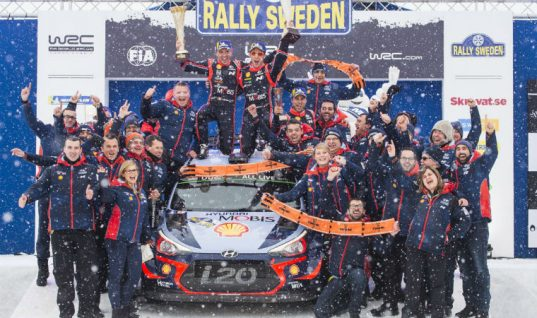 Tenneco beneficiary makes history at 66th Rally Sweden Race