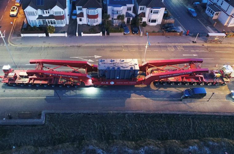 Police escort 255ft-long load while truck delivers 331-ton transformer in Sussex