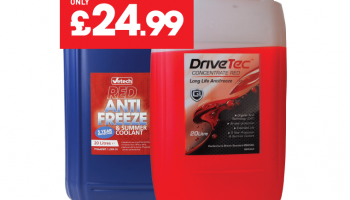 Red antifreeze five year protection limited offer from The Parts Alliance