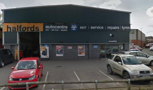 Customer's VW Golf stolen from MOT test bay at Halfords